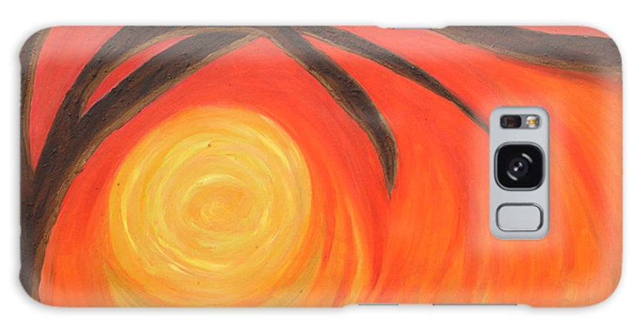 Sunset Galaxy Case featuring the painting Sunset by Lola Connelly