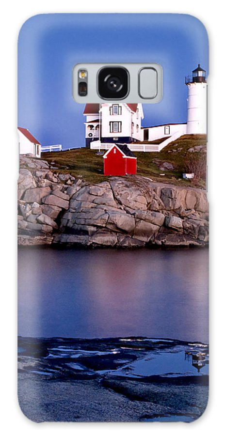 Lighthouse Galaxy S8 Case featuring the photograph Sunset Nubble by Greg Fortier