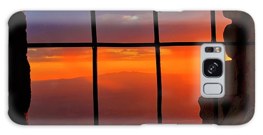 Fine Art Photography Galaxy Case featuring the photograph Sunset on Albuquerque's Rio Grande Valley by Zayne Diamond Photographic