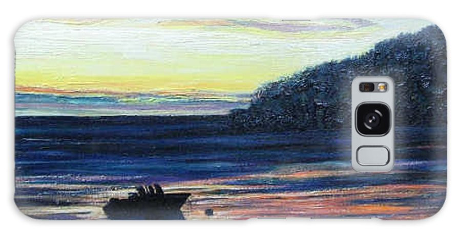 Maine Galaxy Case featuring the painting Sunset On Maine Coast by Richard Nowak
