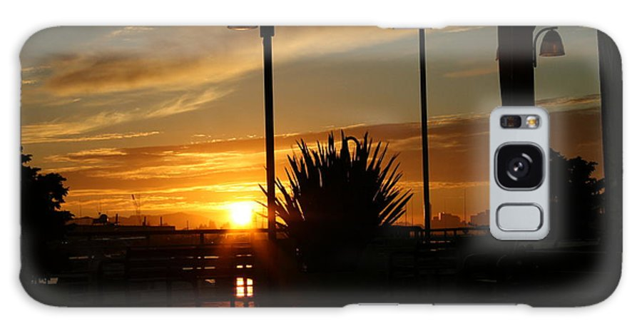 Sunset Galaxy S8 Case featuring the photograph Sunset On The Dock by Joshua Sunday