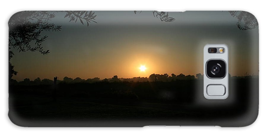 Sunset Galaxy Case featuring the photograph Sunset On The Farm by Joshua Sunday