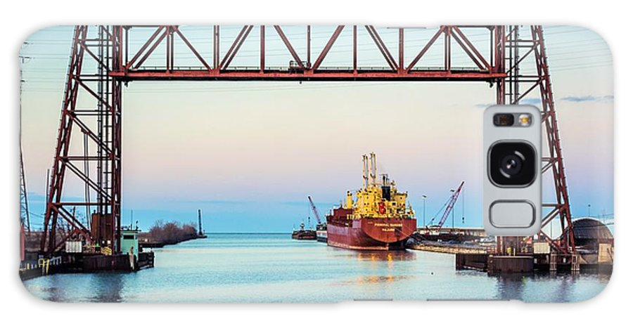 2016 Galaxy S8 Case featuring the photograph Sunset On The Port Of Chicago Waterfront by Christine Douglas