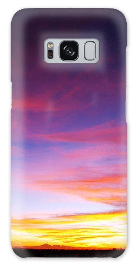 Sunset Galaxy S8 Case featuring the photograph Sunset Over Desert by Jill Reger