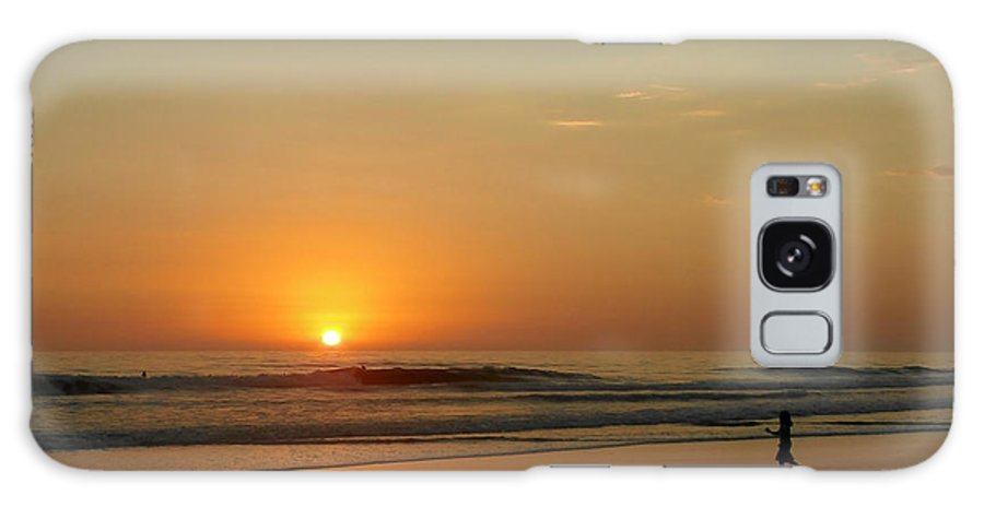 Pacific Galaxy S8 Case featuring the photograph Sunset over La Jolla Shores by Christine Till