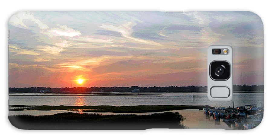 Sunset Galaxy S8 Case featuring the photograph Sunset Over Murrells Inlet II by Suzanne Gaff