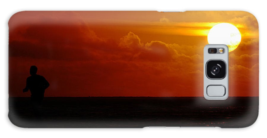 Clay Galaxy S8 Case featuring the photograph Sunset Over The Pacific by Clayton Bruster