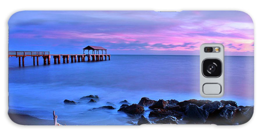 Pier Galaxy S8 Case featuring the photograph Sunset Pier by Scott Mahon