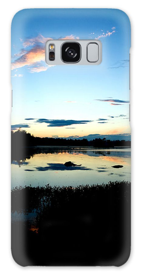Water Galaxy S8 Case featuring the photograph Sunset Pond by Greg Fortier