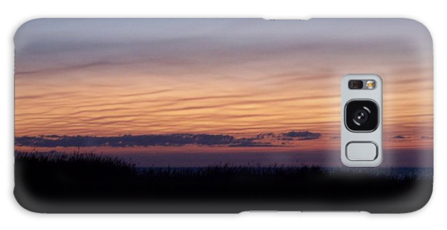 Sky Galaxy S8 Case featuring the photograph Sunset Ripples by Michelle Miron-Rebbe