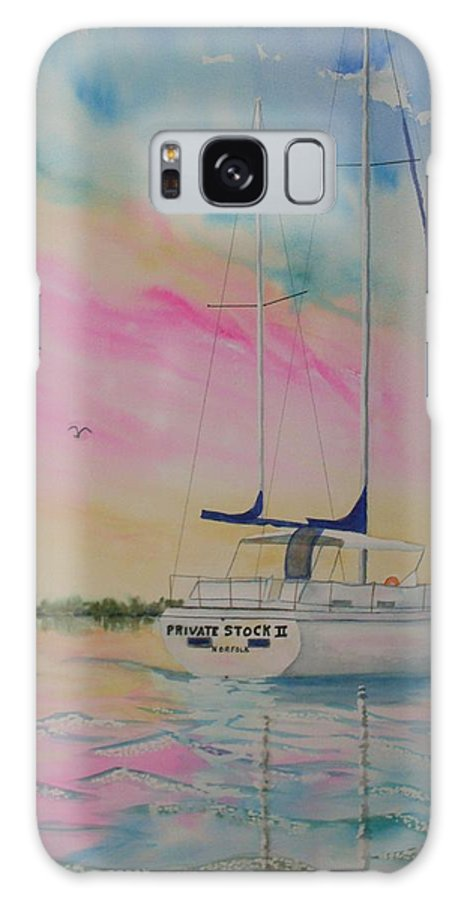 Sunset Sail 3 Galaxy S8 Case featuring the painting Sunset Sail 3 by Warren Thompson