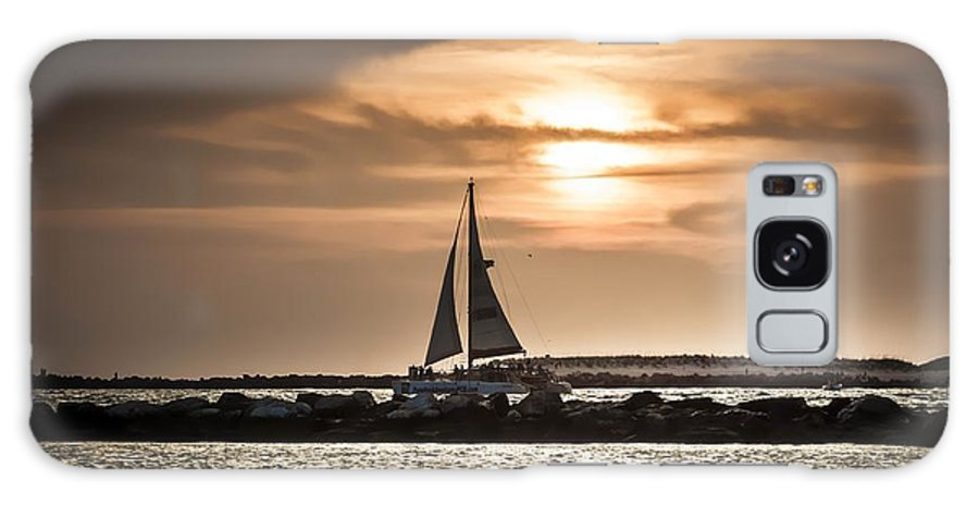Sail Galaxy S8 Case featuring the photograph Sunset Sailing by Debra Forand