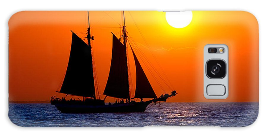 Yellow Galaxy S8 Case featuring the photograph Sunset Sailing In Key West Florida by Michael Bessler