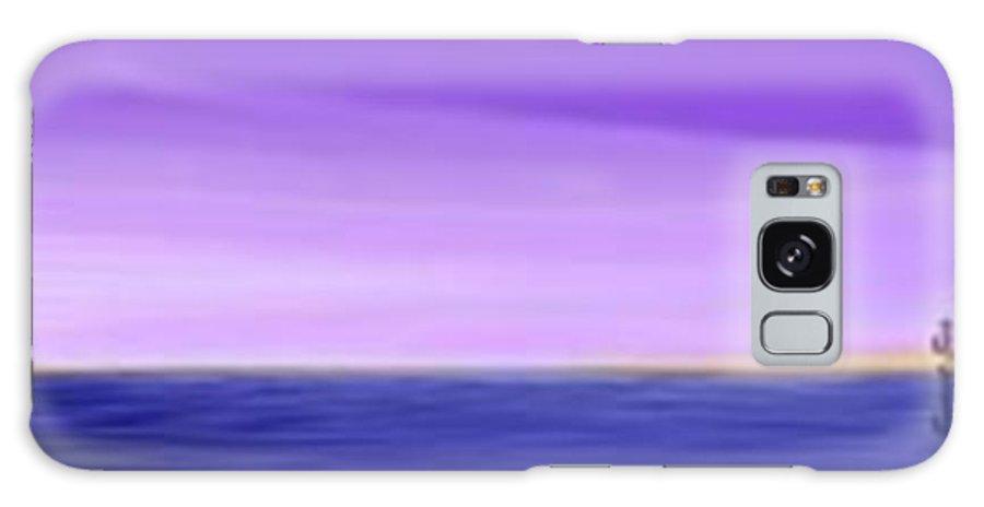 Sunset Galaxy S8 Case featuring the digital art Sunset .sea by Dr Loifer Vladimir
