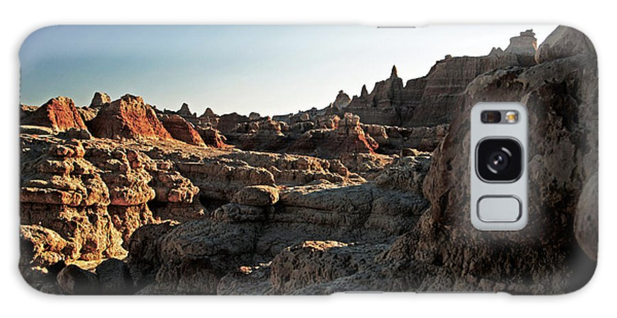 Badlands National Park Galaxy S8 Case featuring the photograph Sunset Shadows In The Badlands by Glenn W Smith