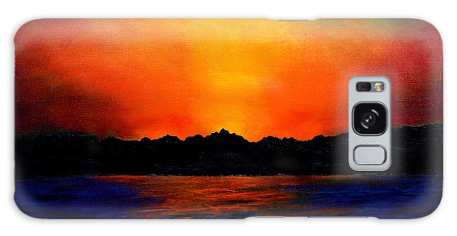 Sinai Sunset Galaxy S8 Case featuring the painting Sunset Sinai by Helmut Rottler