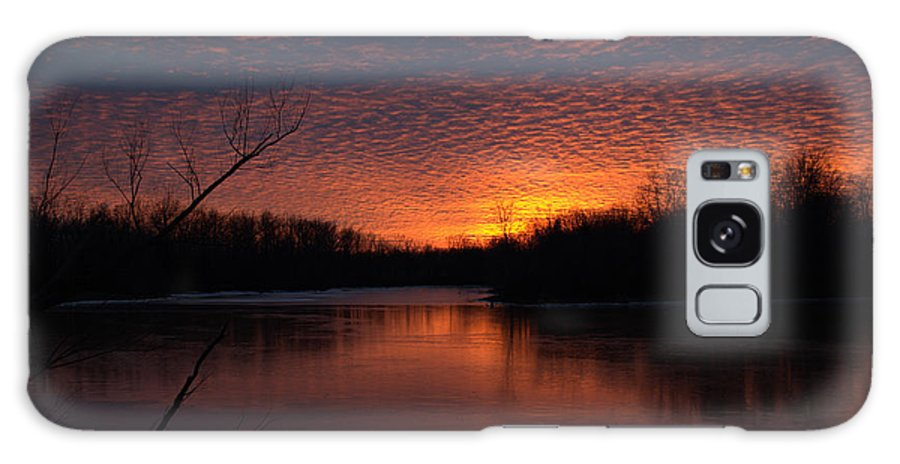 Sunset Photo Galaxy S8 Case featuring the photograph Sunset Textures by J R Seymour