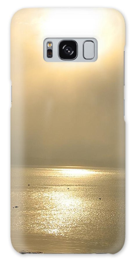 Sun Galaxy S8 Case featuring the photograph Sunset Through Fog by Kelly Mezzapelle