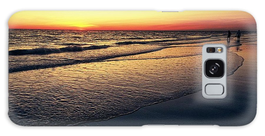 Galaxy S8 Case featuring the digital art Sunset Time On Sunset Beach by Alfred Blaho