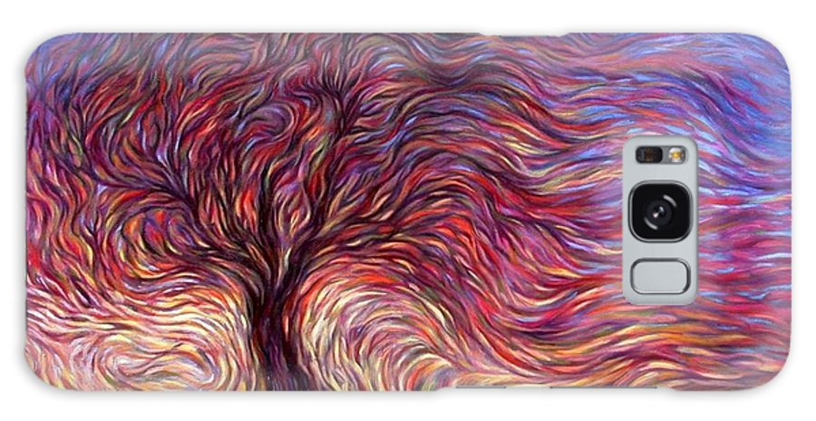 Tree Galaxy Case featuring the painting Sunset Tree by Hans Droog