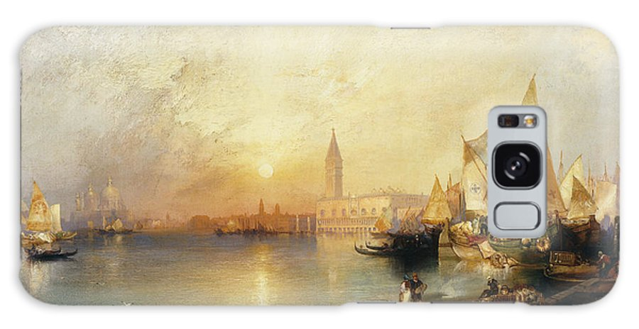 American Artist;american Painting Galaxy S8 Case featuring the painting Sunset Venice by Thomas Moran