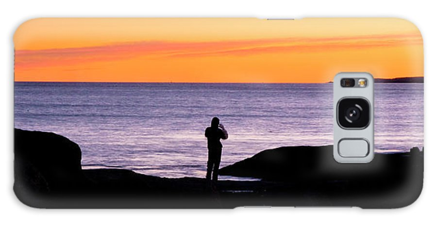 Sunset Galaxy S8 Case featuring the photograph Sunset Watcher by Greg Fortier