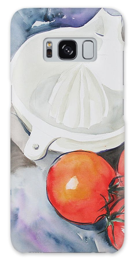 Tomatoes Galaxy S8 Case featuring the painting Sunshine On The Vine by Jean Blackmer