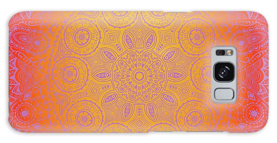 Purple Galaxy S8 Case featuring the digital art Sunshine Purple Mandala by Susan Link