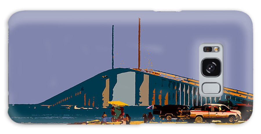 Sunshine Skyway Bridge Galaxy S8 Case featuring the photograph Sunshine Skyway by David Lee Thompson
