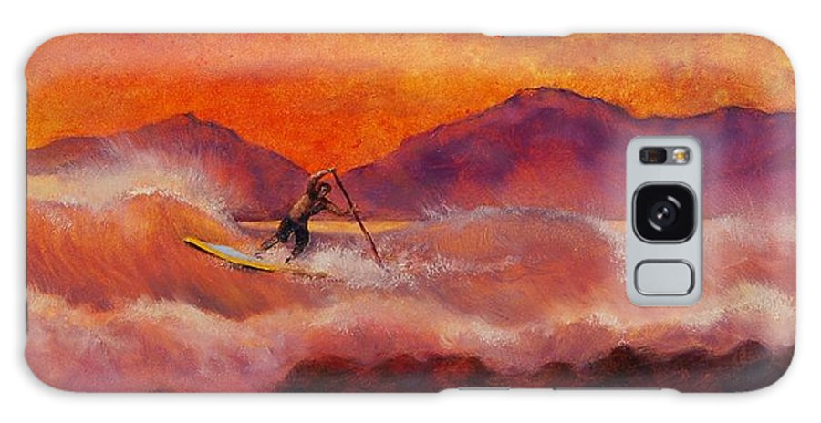 Standup Paddleboarding Galaxy S8 Case featuring the painting S.u.p. by Lynee Sapere