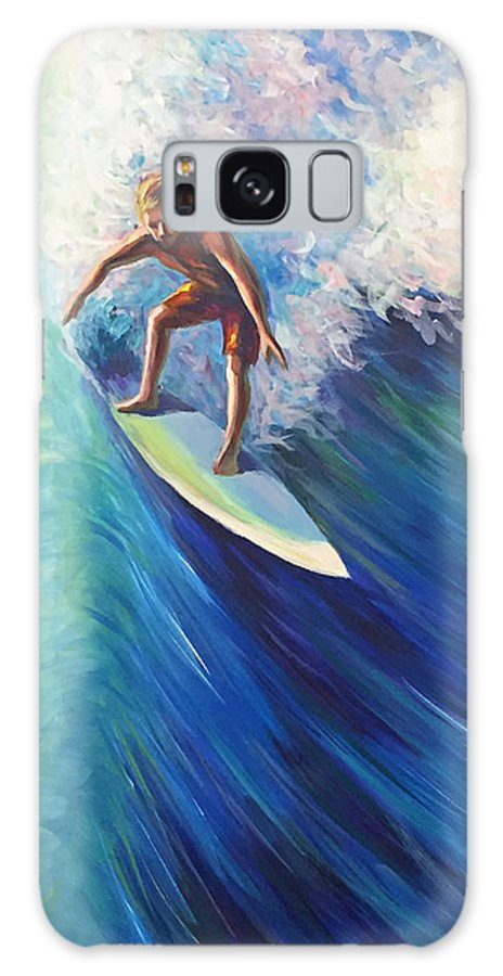 Surf Galaxy S8 Case featuring the painting Surfer II by Gretchen Ten Eyck Hunt