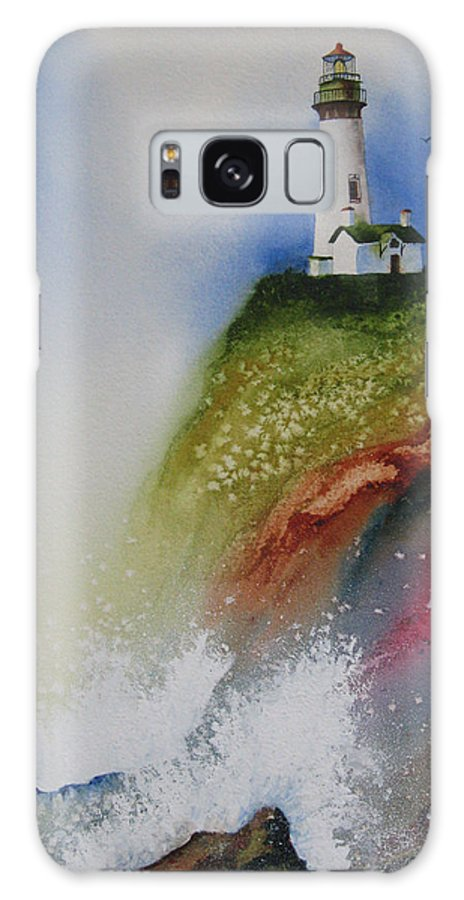 Lighthouse Galaxy S8 Case featuring the painting Surfside by Karen Stark