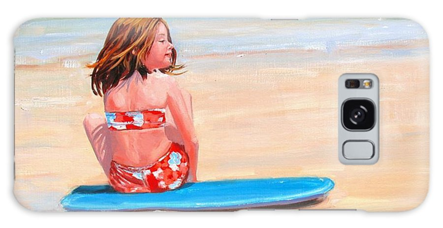 Oil Painting Galaxy S8 Case featuring the painting Surfside by Laura Lee Zanghetti