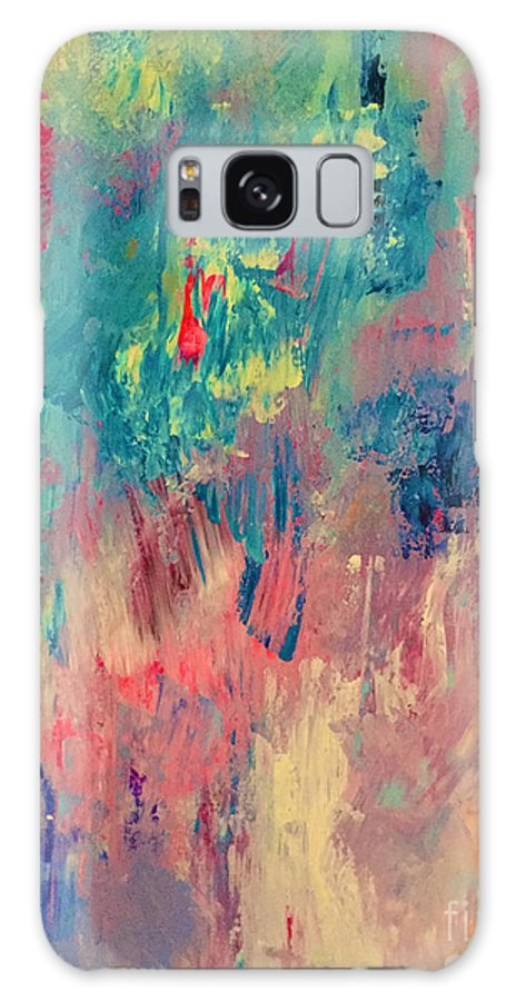 Abstract Galaxy S8 Case featuring the painting Surprise Party by Elle Justine