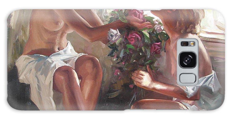 Ignatenko Galaxy Case featuring the painting Surprise by Sergey Ignatenko
