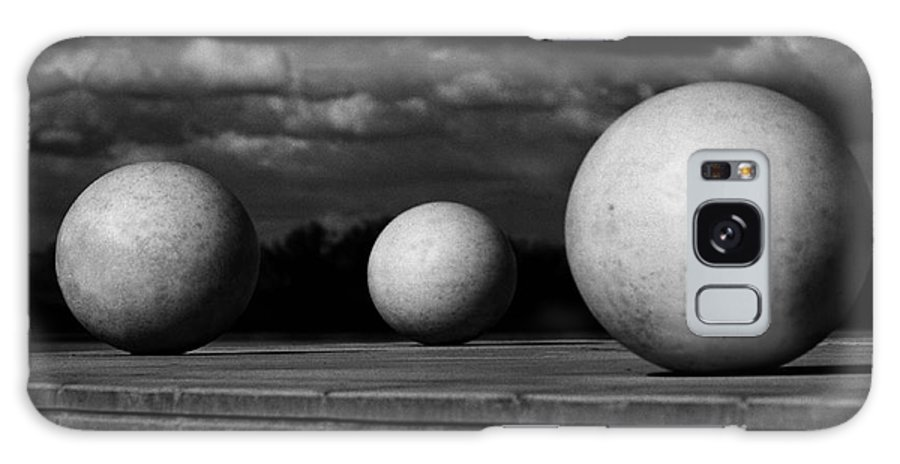 Black And White Galaxy S8 Case featuring the photograph Surreal Globes by Peter Piatt