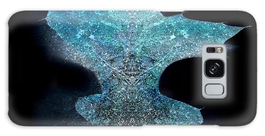 Ice Galaxy S8 Case featuring the photograph Surreal Ice Leaf by Adam Long