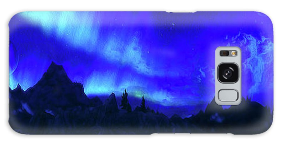 Sky Galaxy S8 Case featuring the painting Surreal Nights by Andrea Mazzocchetti