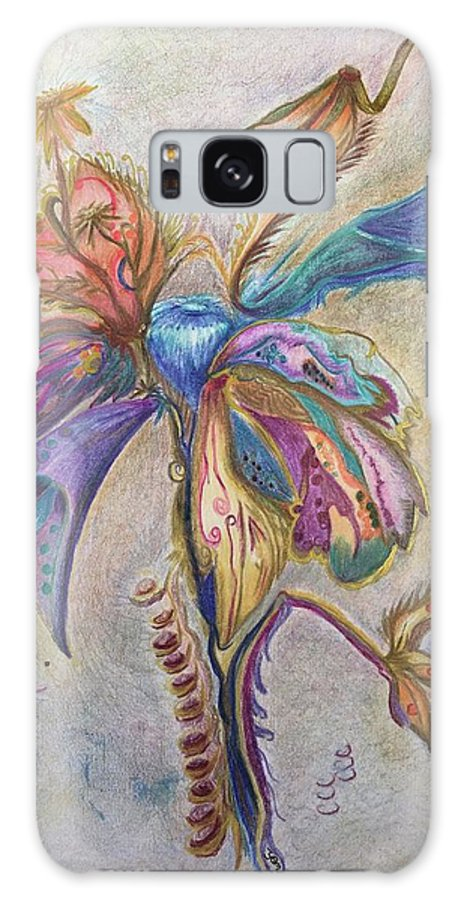 Plants Galaxy Case featuring the drawing Surrender by Suzanne Udell Levinger