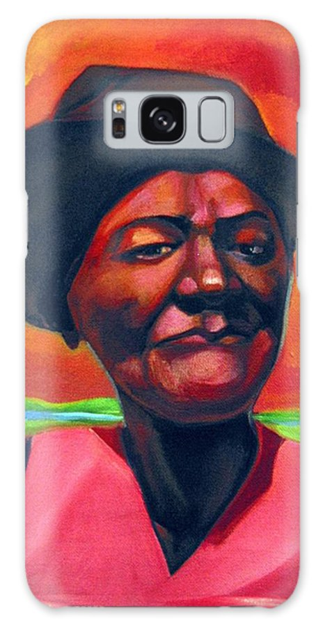 African Galaxy S8 Case featuring the painting Survivor Spirit Mollie by Joyce Owens