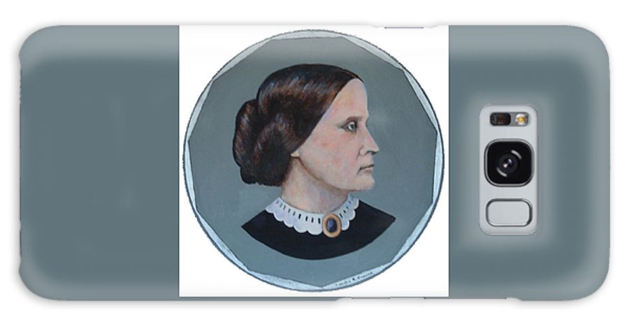 Susan B. Anthony Galaxy S8 Case featuring the painting Susan B Anthony Coin by Art Nomad Sandra Hansen
