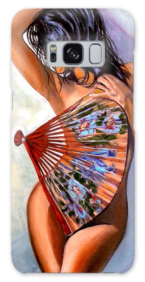 Women Galaxy Case featuring the painting Susie by Jose Manuel Abraham