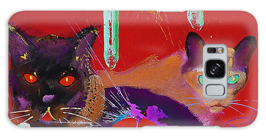 Cat Galaxy Case featuring the painting Suspicious Minds by Charles Stuart