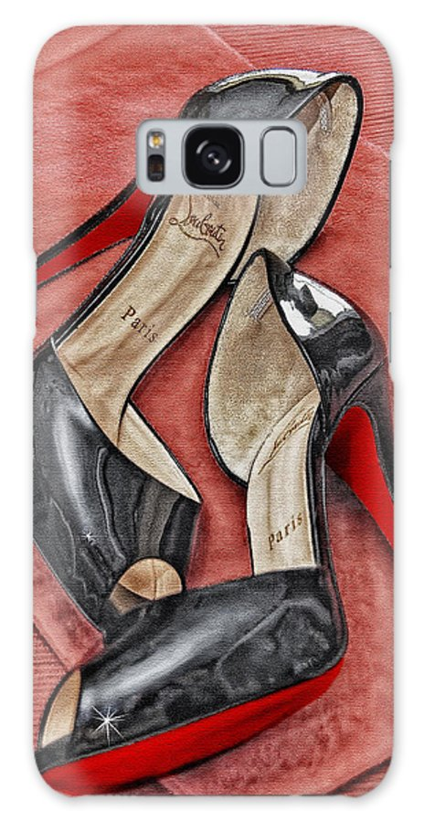 Shoes Galaxy S8 Case featuring the photograph Suzette Loves Her Louboutins by Maggie Magee Molino