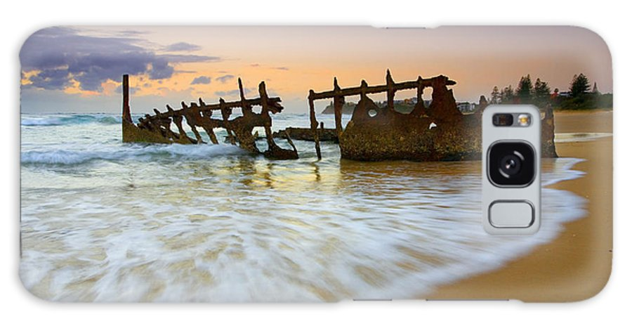 Shipwreck Galaxy Case featuring the photograph Swallowed By The Tides by Mike Dawson