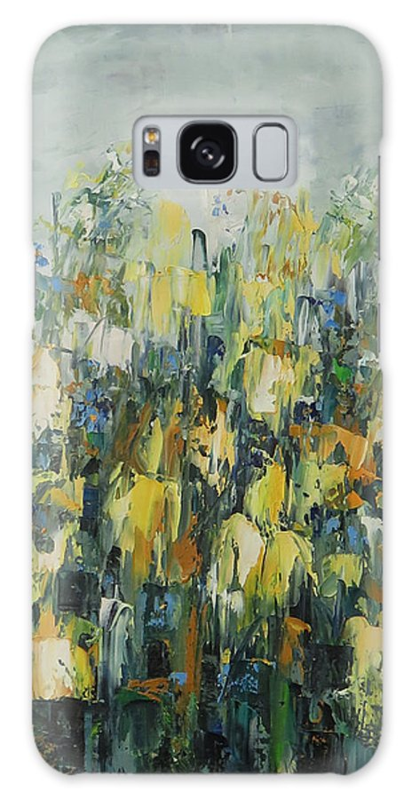 Floral Paintings Galaxy S8 Case featuring the painting Swamp Flora by Ana Dawani