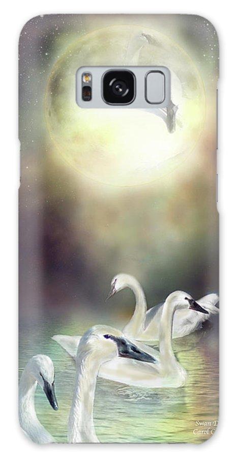 Swan Galaxy S8 Case featuring the mixed media Swan Dreams by Carol Cavalaris