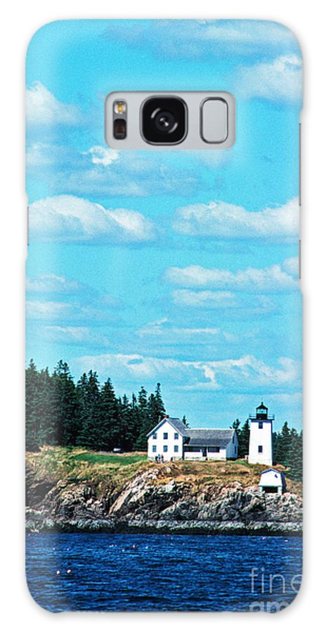 Maine Galaxy S8 Case featuring the photograph Swans Island Lighthouse by Thomas R Fletcher