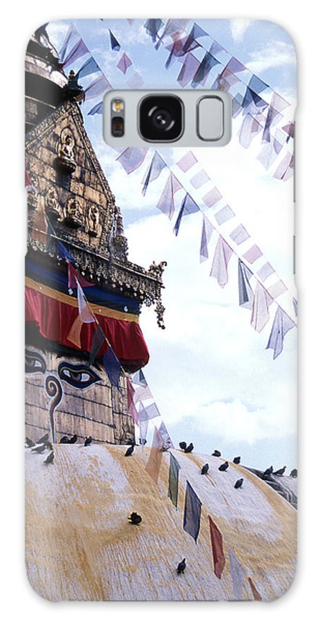 Swayambhunath Stupa Galaxy Case featuring the photograph Swayambhunath II by Patrick Klauss