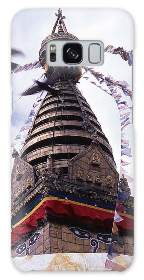 Swayambhunath Galaxy Case featuring the photograph Swayambhunath by Patrick Klauss